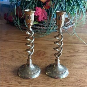 Brass candle stick holders ❤️
